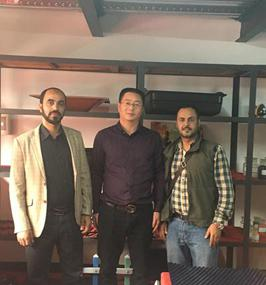 Customers from Middle East visited our factory